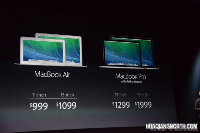 苹果升级MBP Retina 起售价降低200美元